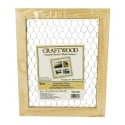 "Darice Wooden Frame with Chicken Wire  (9.5"" x 11.5"" - Unfinished Wood)"