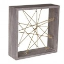 "Air Plant Wood Frame (Whitewashed Wood, 7"")"