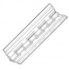 "6"" clear acrylic piano hinge"