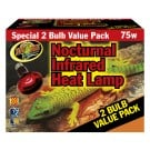 Zoo Med Nocturnal Infrared Heat Lamp - 2 Pack (75 Watt)